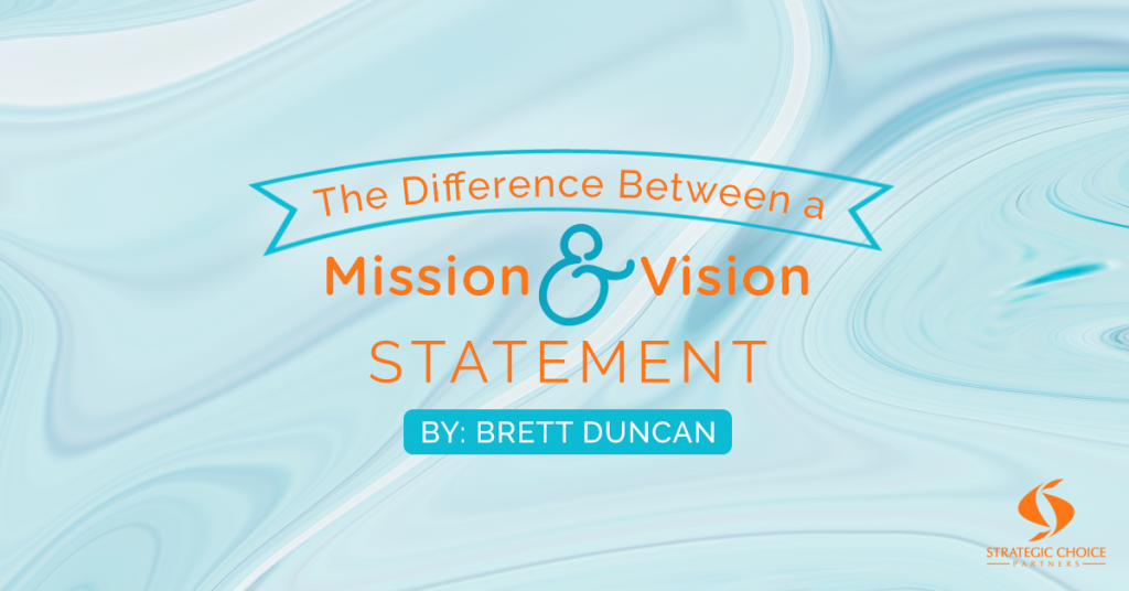 Difference between a mission and vision statement