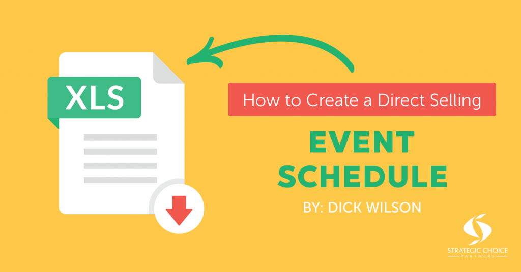 How to Create a Direct Selling Event Schedule